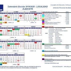 PUBLICADO EL CALENDARIO ESCOLAR 2019-2020 PARA ALBACETE