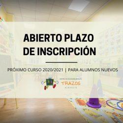 Inscripciones Curso 2020/2021 para alumnos nuevos